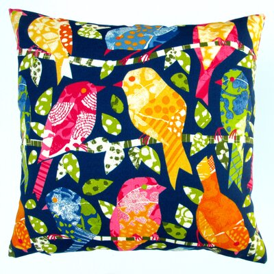 Kids Colorful Birds Modern Contemporary Indoor/Outdoor Pillow Cover