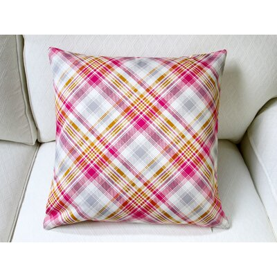 Notting Hill Plaid Tartan Indoor Pillow Cover Color: Pink