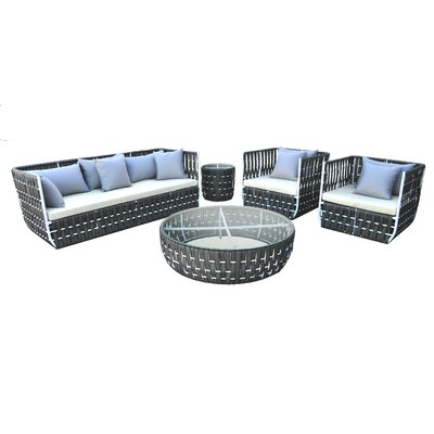 Volta 5 Piece Deep Seating Group With Cushion