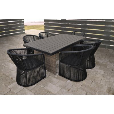 Cuerda 7 Piece Dining Set With Cushion