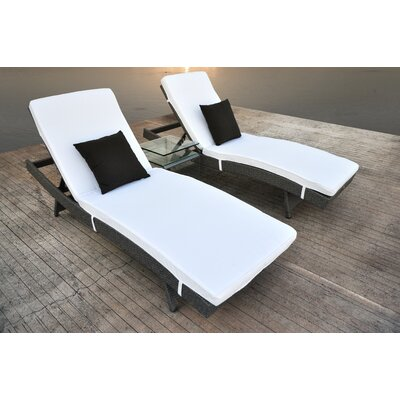 Zori 3 Piece Lounge Seating Group with Cushion
