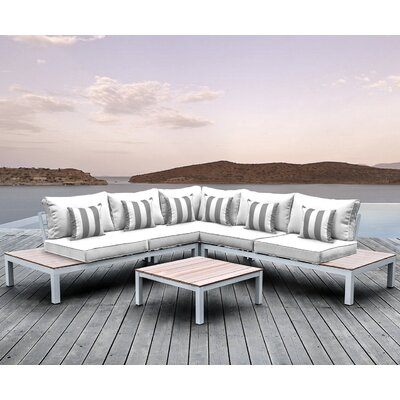 Pulito 4 Piece Deep Seating Group with Cushion