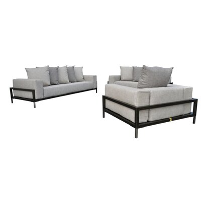 Tilly 3 Piece Pebble Cream Deep Seating Group with Cushion