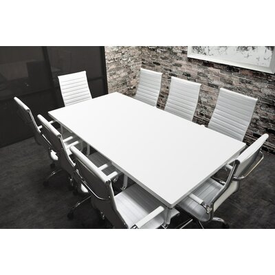Lucidum 9 Piece 6 Rectangular Conference Table Set