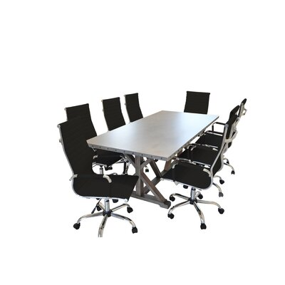 Armis Rectangular 30H x 40W x 84L Conference Table Set
