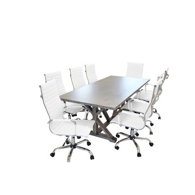 Rhead Rectangular 30H x 40W x 84L Conference Table Set