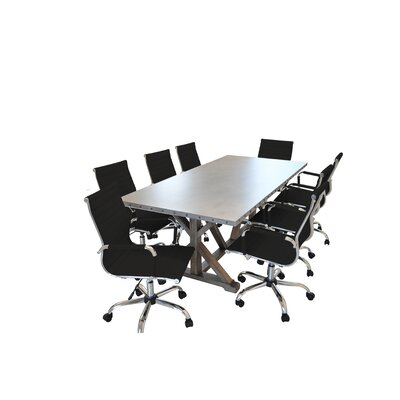 Armis 7 Rectangular 9 Piece Conference Table Set