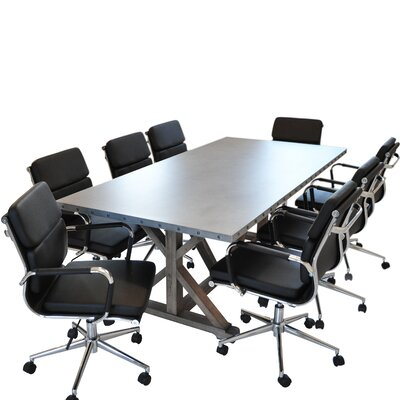 Armis 7 Table with Chairs 9 Piece Conference Set