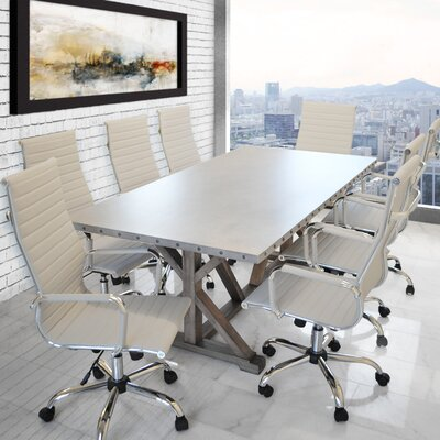 Armis Rectangular L Conference Table Product Photo 96