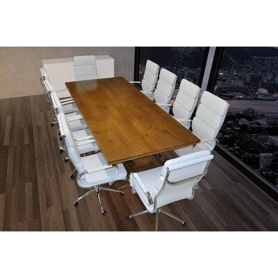 Lignum Rectangular 30.75H x 43.38W x 94.5L Conference Table Set Finish: White