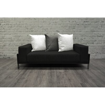 Tilly 4 Piece Deep Sofa Seating Group with Black Cushions Accent Pillow Fabric: Dark Oyster/White