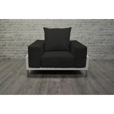 Tilly 4 Piece Deep Sofa Seating Group with Cushions Accent Pillow Fabric: Black