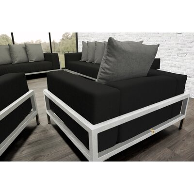 Tilly 4 Piece Deep Sofa Seating Group with Cushions Accent Pillow Fabric: Dark Oyster
