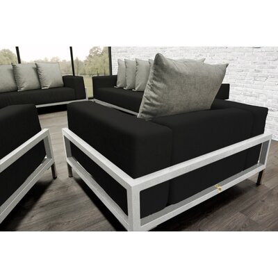 Nubis 4 Piece Deep Sofa Seating Group with Cushions Accent Pillow Fabric: Oyster