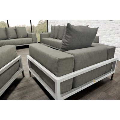 Nubis 4 Piece Deep Sofa Seating Group with Cushions Accent Pillow Fabric: Dark Oyster