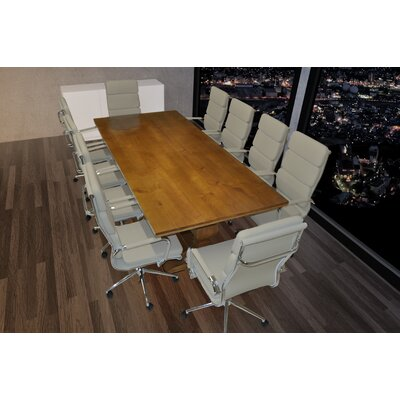 Lignum Rectangular 30.75H x 43.38W x 94.5L Conference Table Set Finish: Gray