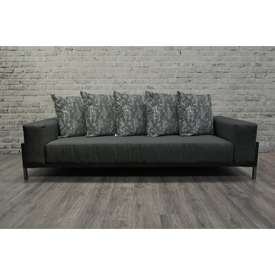 Tilly Contemporary 3 Piece Lounge Seating Group with Cushion Frame Finish: Black