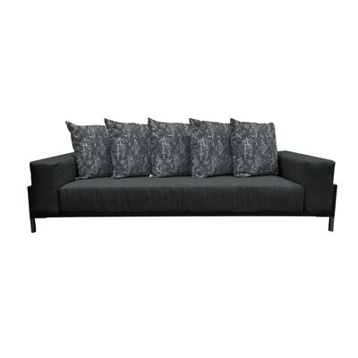 Tilly Deep Seated Sofa with Cushions Finish: Black