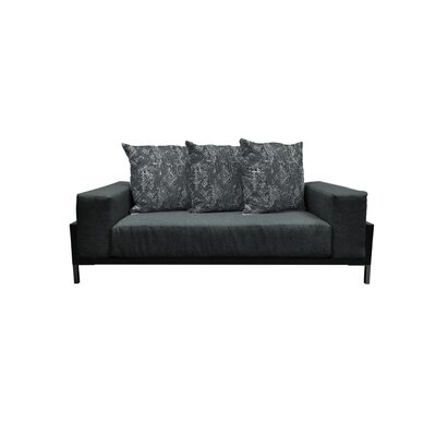 Tilly Deep Seated Loveseat with Cushions Finish: Black