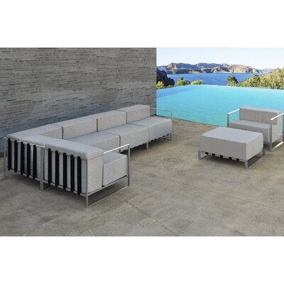 Chae 7 Piece Sectional Set with Cushion Frame Finish: White