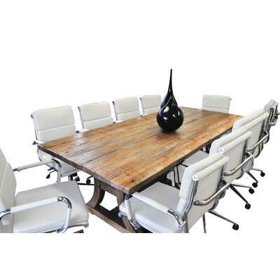 Exaucet 11 Piece Exaucet 8 Rectangular Conference Table Set Finish: White