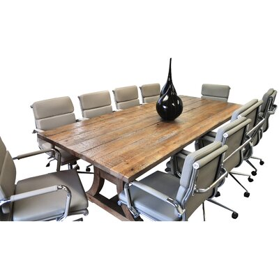 Exaucet 11 Piece Exaucet 8 Rectangular Conference Table Set Finish: Taupe