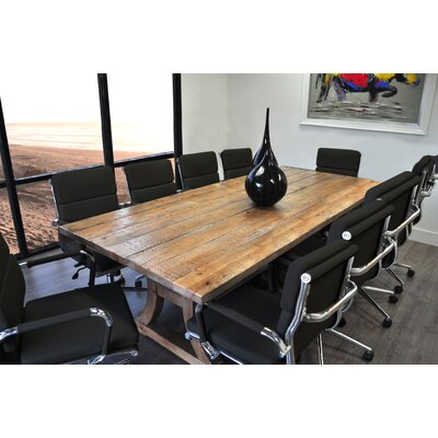 Exaucet 11 Piece Exaucet 8 Rectangular Conference Table Set Finish: Black