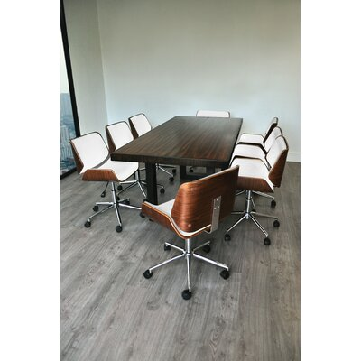 One of a kind Rectangular Conference Table Set Product Photo
