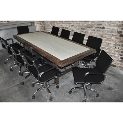Quijada Rectangular 30H x 42W x 92L Conference Table Set Finish: Black