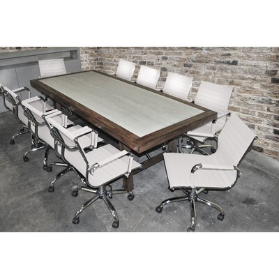 Quijada Rectangular 30H x 42W x 92L Conference Table Set Finish: White