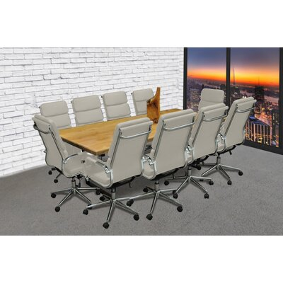 Rectangular 30H x 42W x 96L Conference Table Set Finish: Gray