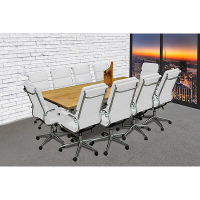Rectangular 30H x 42W x 96L Conference Table Set Finish: White
