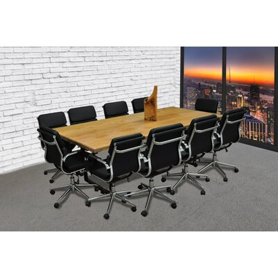 Rectangular 30H x 42W x 96L Conference Table Set Finish: Black