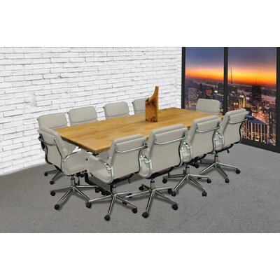 Rectangular 30H x 42W x 96L Conference Table Set Color: Gray