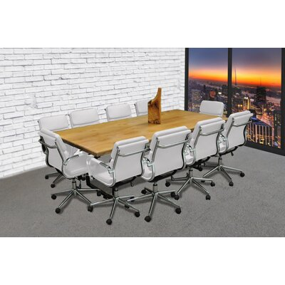 Rectangular 30H x 42W x 96L Conference Table Set Color: White