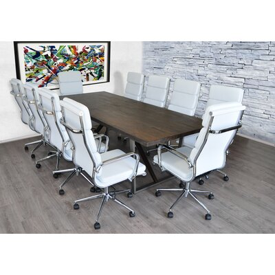 Charters Towers Rectangular L Conference Table Set Product Photo 1083