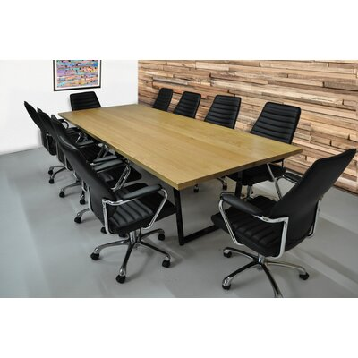 Radner 11 Piece Rectangular 30H x 48W x 120L Conference Table Set