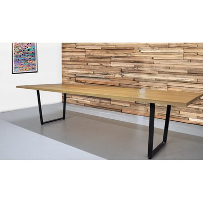 Radner Solid Natural Wood Rectangular Conference Table Size: 30 H x 48 W x 120 L