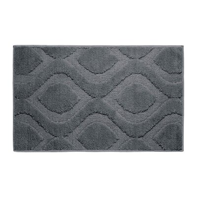 Plush Bath Mat Color: Gun Metal, Size: 34 x 21