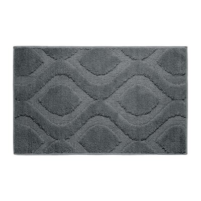 Plush Bath Mat Size: 24 x 17, Color: Gun Metal