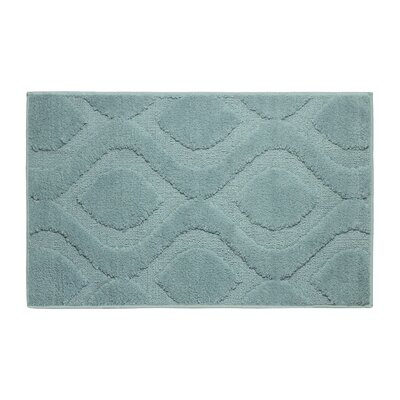 Plush Bath Mat Size: 34 x 21, Color: Arctic Blue