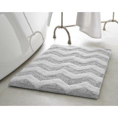 Zigzag Plush Bath Mat Color: Gray Street