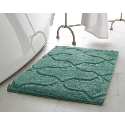 Bekasi Bath Mat Size: 24 x 17, Color: Lake Blue