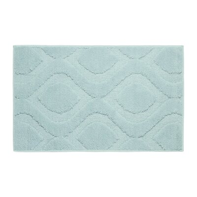 Plush Bath Mat Color: Aqua, Size: 34 x 21