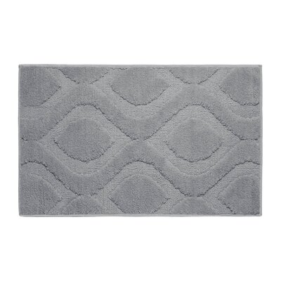 Plush Bath Mat Size: 34 x 21, Color: Wild gray
