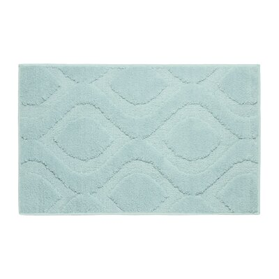 Plush Bath Mat Size: 24 x 17, Color: Aqua