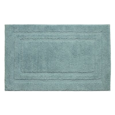 Plush Bath Mat Color: Arctic Blue, Size: 34 x 21