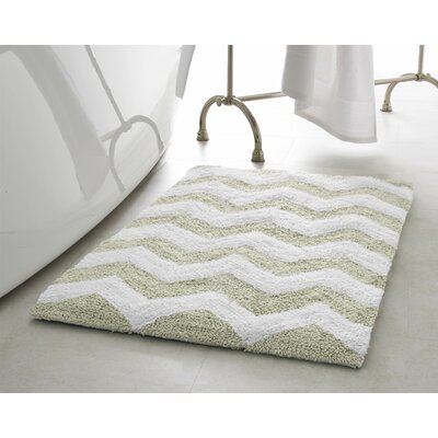 Zigzag 2 Piece Plush Bath Mat Set Color: Ivory