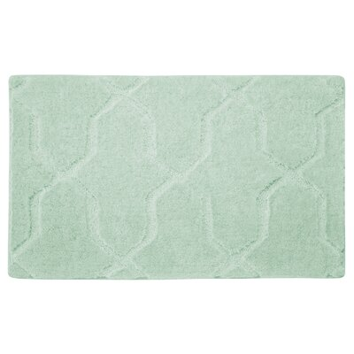Pearl Drona Bath Mat Color: Sea Foam, Size: 32 x 20