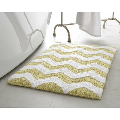 Zigzag 2 Piece Plush Bath Mat Set Color: Banana